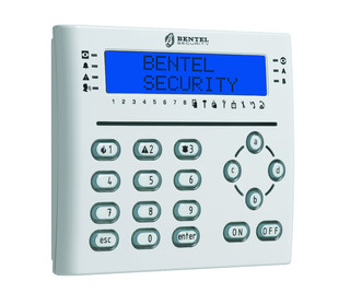 bentel security products security products keypad